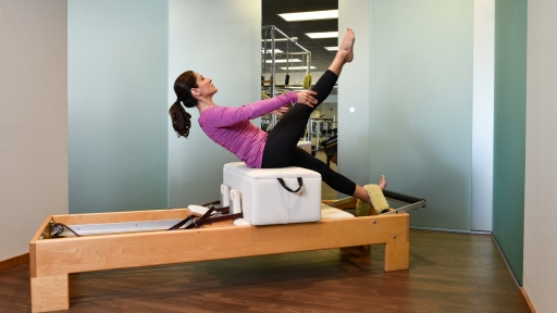 woman engages in apparatus pilates at miraval austin
