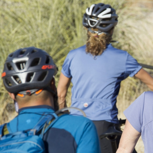 back shots of mountain bikers in austin texas
