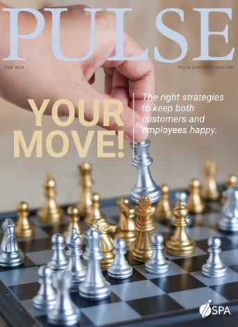 pulse magazine cover of chess game