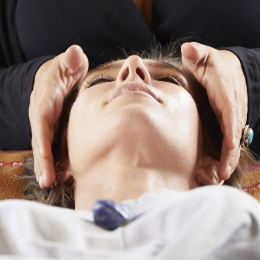 woman participating in craniosacral therapy at miraval austin