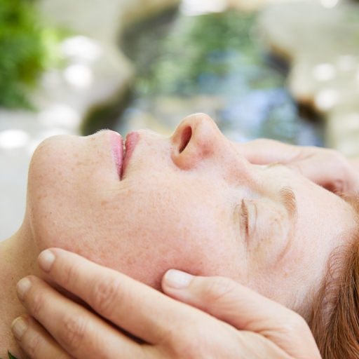 woman relaxing at miraval life in balance spa in austin