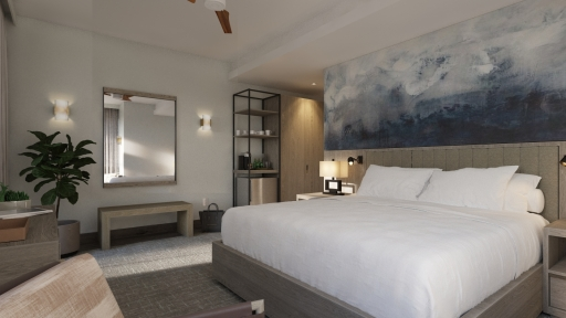 airy guest room at miraval austin resort