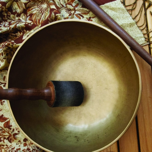 tibetan bowls used in pravasana sound therapy