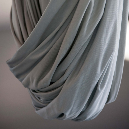 silver colored drape