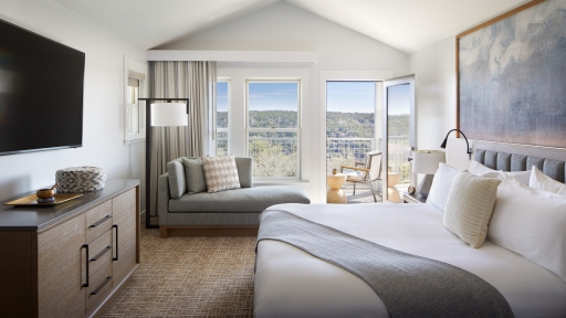Inside one of the suites at Miraval Austin Wellness Resort & Spa